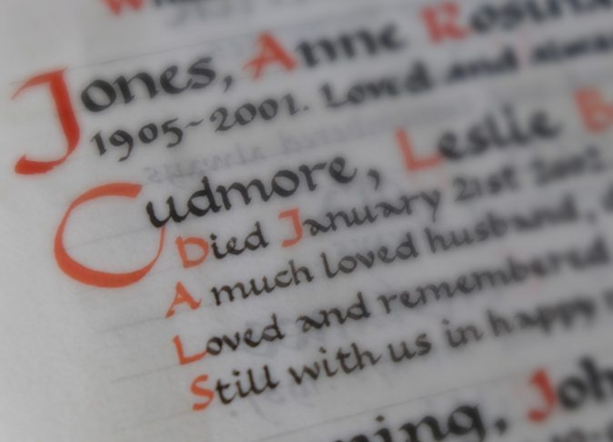 Book of Remembrance: 5 line entry