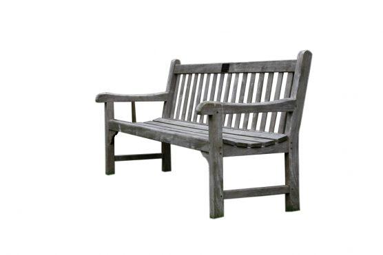 Wooden bench + brass plaque